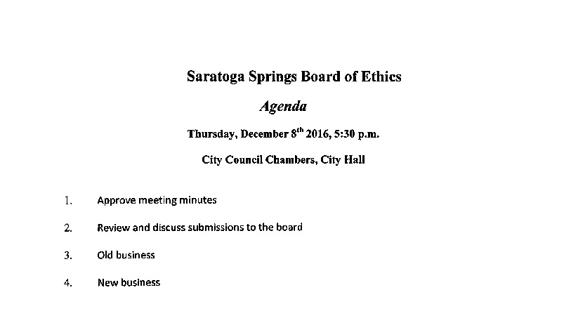ethics-agenda-for-december-8